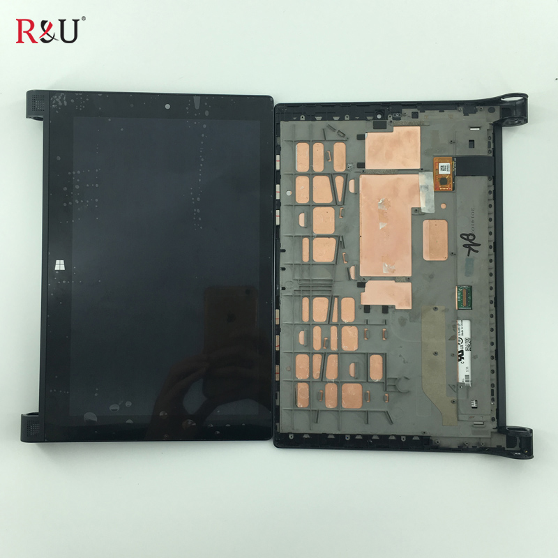 used parts LCD Display Screen Touch Screen Digitizer Assembly + Frame Bezel Part Replacement For Lenovo YOGA Tablet 2 1051 1051L genuine repair part replacement touch screen digitizer module with bus wire for htc sensation