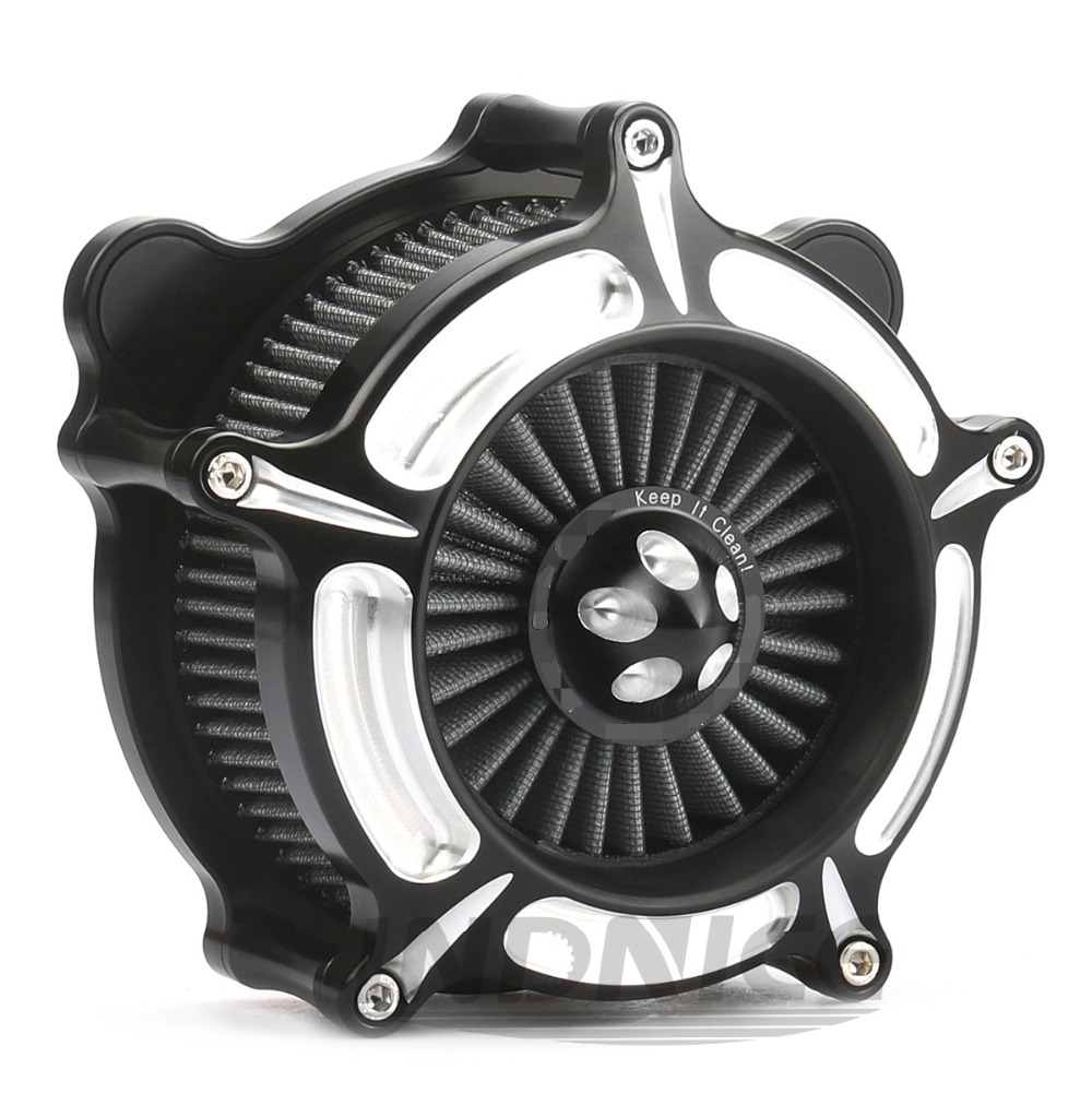 Motorcycle Turbine Spike Turbine Air Intake Filter Dyna softail touring Road King Glide 93-07 For harley road Glide air cleaner chrome motorcycle spike air cleaner filter case for harley softail rocker cross bones 2008 2009 touring softail dyna 2004 2007