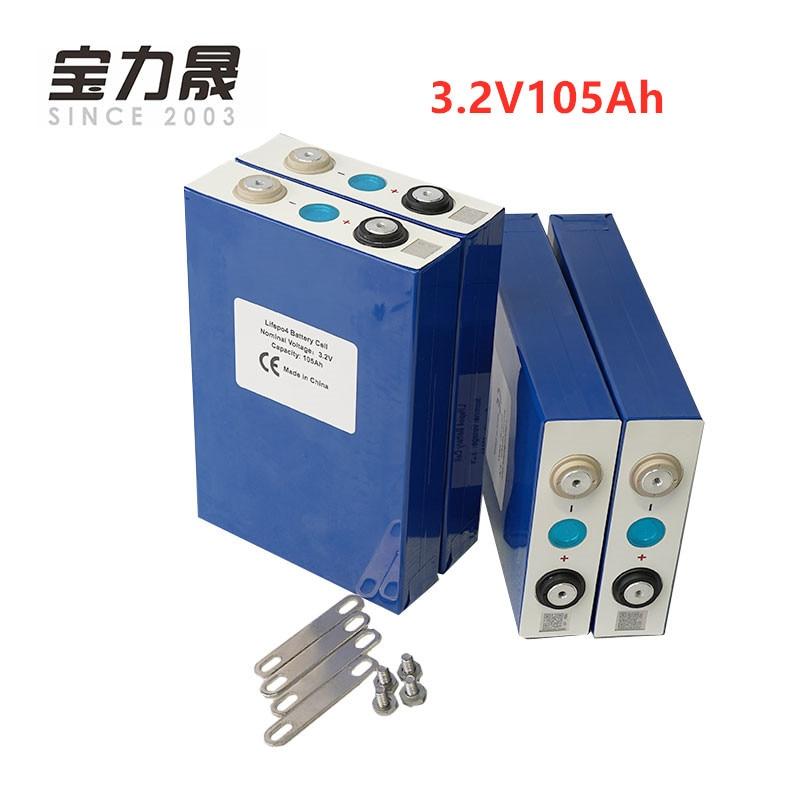 2019 nouveau 4 pièces 3.2V 105Ah lifepo4 batterie cellule pas 100ah 12V105Ah pour EV RV batterie pack bricolage solaire ue US taxe libre UPS ou FedEx