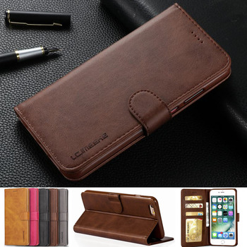 Case For iphone 5 5s 6 6s 7 8 Plus X SE Silicone Cover Card Slot Wallet Flip Case For iphone 7 Plus 6 Plus Leather Phone Cases iphone 6