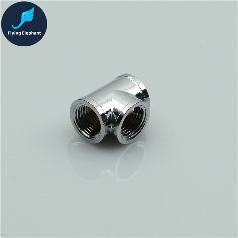 Y Or T Shape Tee Splitter 3 Way Inner Teeth Connector  G1/4 Thread Computer Water Cooling Fitting