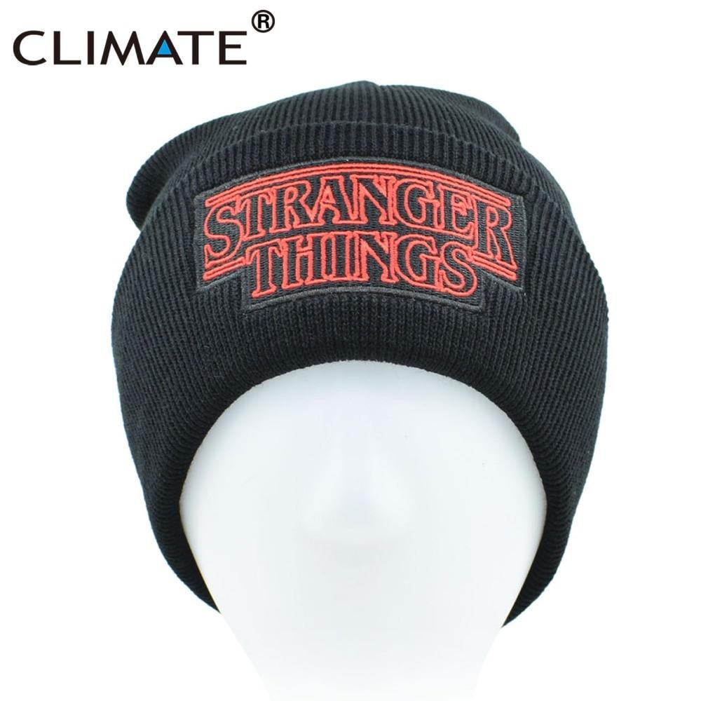 CLIMATE Men Women Teenagers Warm Beanine Winter Hat Dustin Stranger Things  Dustin Black Knit Beanie Cap Hat For Men Women Youth. 897b9bedcb1c