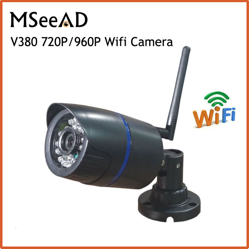 HD 720P wi-fi Camera 960p Wifi Camera Wireless Outdoor Waterproof Security Home CCTV Camera IP Cam Black Night Vision Free APP elitepb 1 3mp 960p hd wireless ip camera wi fi indoor outdoor home security camera waterproof day and night