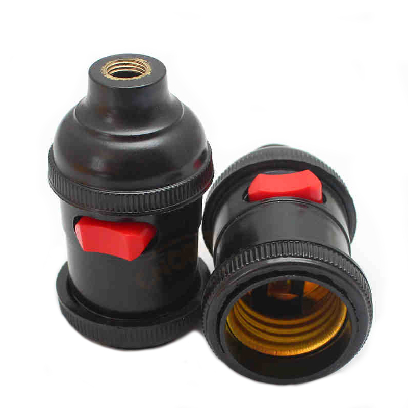 E27 LED Пластик лампа держатель Эдисон лампа розетка с выключателем База лампа Интимные  ...