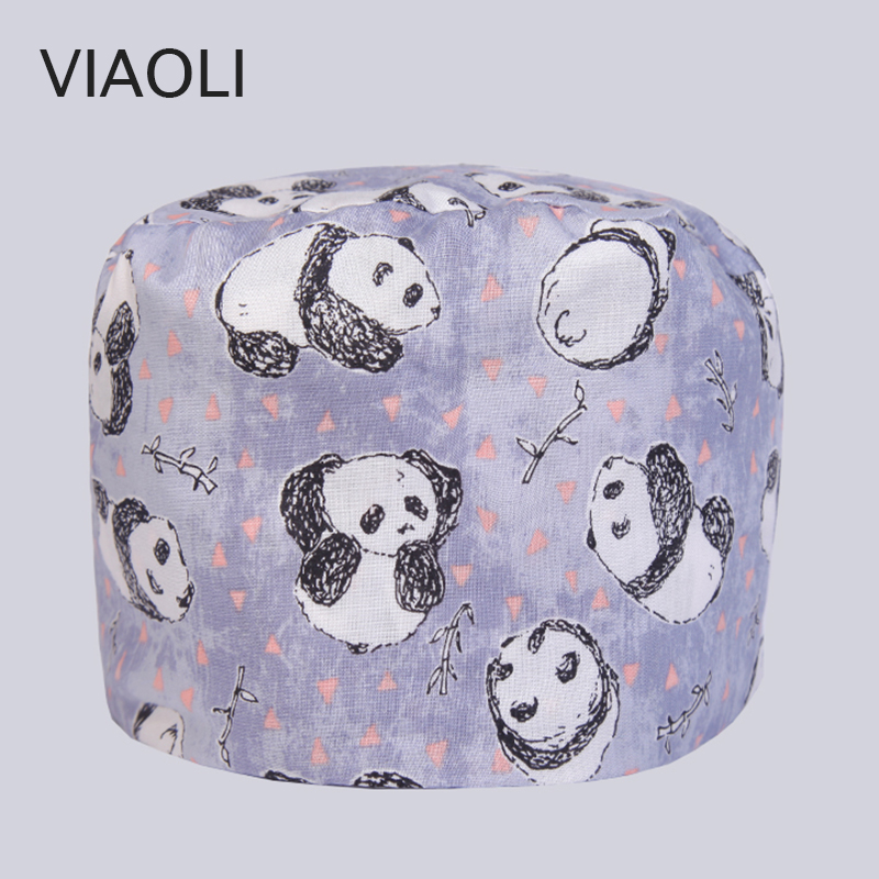 Pet hospital hat male and female doctor nurse cap operating room hat dental beauty salon work cap printing gourd hat
