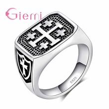 Fashion Rock Style Antique Silver Jewelry Ring Silver Anel Hiphop Anillo For Men Women Casual Party Accessories(China)