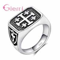 Fashion Rock Style Antique Silver Jewelry Ring Silver Anel Hiphop Anillo For Men Women Casual Party Accessories