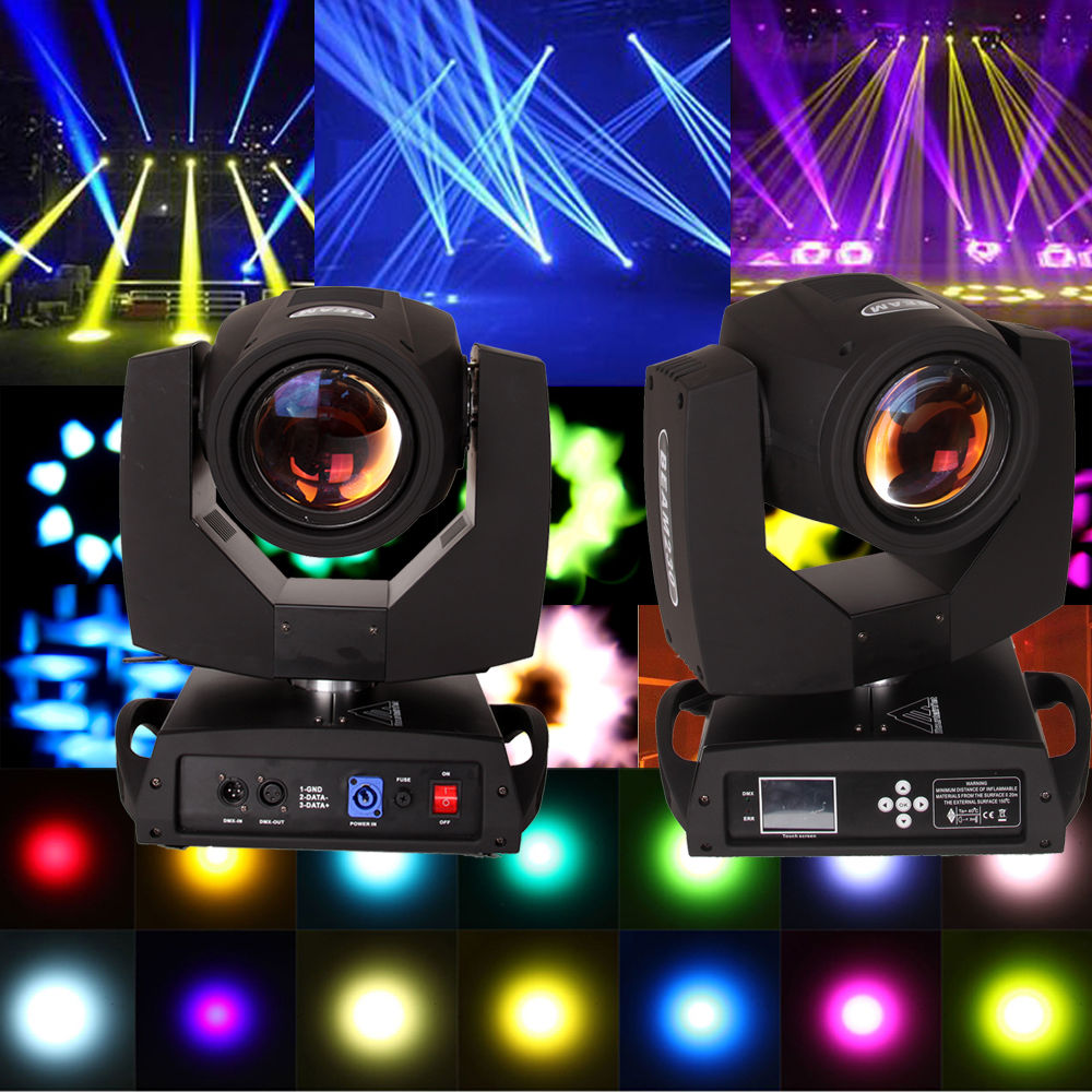 (Ship From EU) 2pcs 230W DMX 16CH Osram 7R Beam Moving Head Spot Light Stage Disco DJ luci 6pcs lot white color 132w sharpy osram 2r beam moving head dj lighting dmx 512 stage light for party