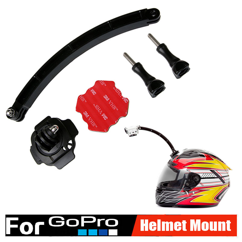 go pro self selfie stick mount motorcycle cycling helmet extension arm 360 degree buckle mounts. Black Bedroom Furniture Sets. Home Design Ideas