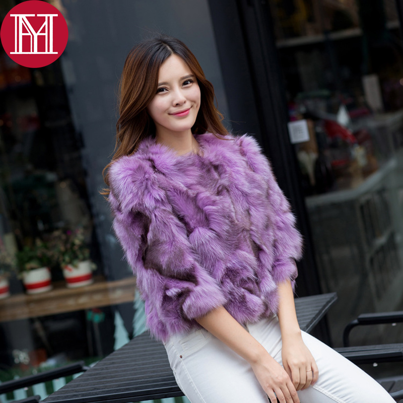 2017 hot sale 100 real natural genuine fox fur coat women fashion short fur jacket ladies