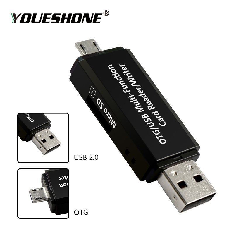 Image 4 - RSExplorer OTG Card Reader Adapter High speed USB 2.0 Flash Drive Universal OTG TF/SD Card Reader for Android phone Computer-in Card Readers from Computer & Office