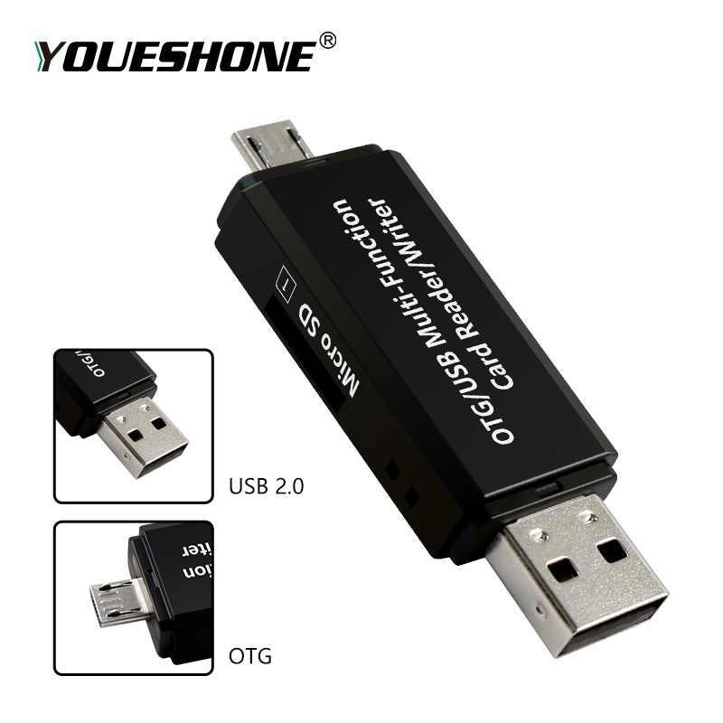 RSExplorer وتغ محوّل قارئ البطاقات عالية السرعة USB 2.0 فلاش محرك العالمي وتغ TF/قارئ البطاقات SD لالروبوت الهاتف الكمبيوتر