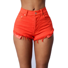 High waisted colored jean shorts online shopping-the world largest ...