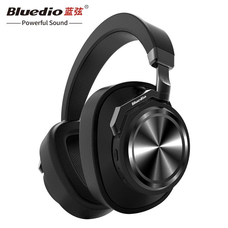Regalo de Navidad Bluedio T6 activa de ruido cancelación de auriculares bluetooth auriculares inalámbricos con micrófono para teléfonos móviles