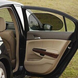 Image 1 - 2 個車カーテンシックなメッシュ車のサイドウィンドウしがみつく日よけサンシェイドカバーバイザーshiel日除けオートカーアクセサリー