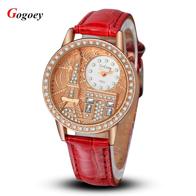 Hot sale Watch Women Fashion Luxury Watches Brand Gogoey Rhinestone Quartz Watch Ladies Dress Wristwatch Relogio Feminino clock silver diamond women watches luxury brand ladies dress watch fashion casual quartz wristwatch relogio feminino