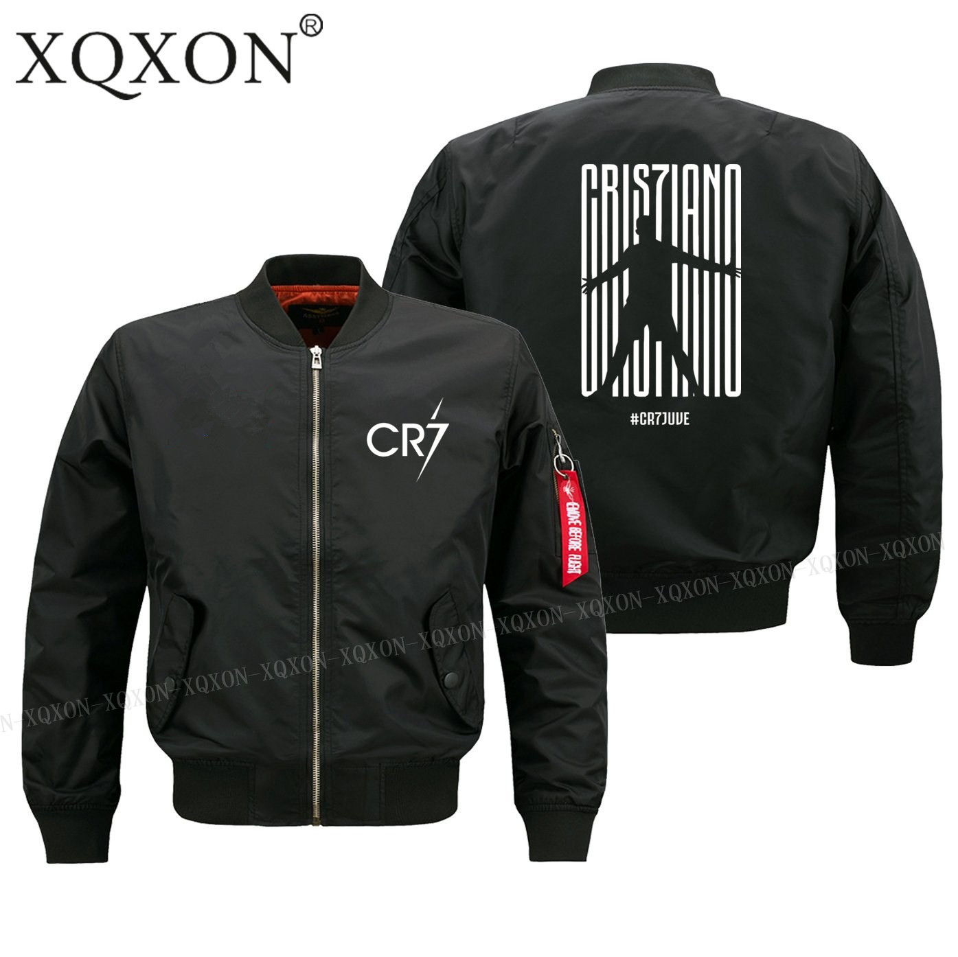 XQXON Autumn winter new design Ronaldo CR7 Juventus FC Serie A #CR7 Turin man jacket High Quality men Coats Jackets S 6XL 193-in Jackets from Men's Clothing