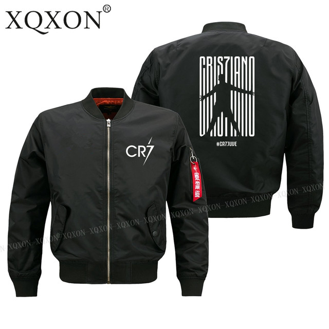 XQXON Autumn winter new design Ronaldo CR7 Juventus FC Serie A #CR7 Turin man jacket High Quality men Coats Jackets S-6XL-193