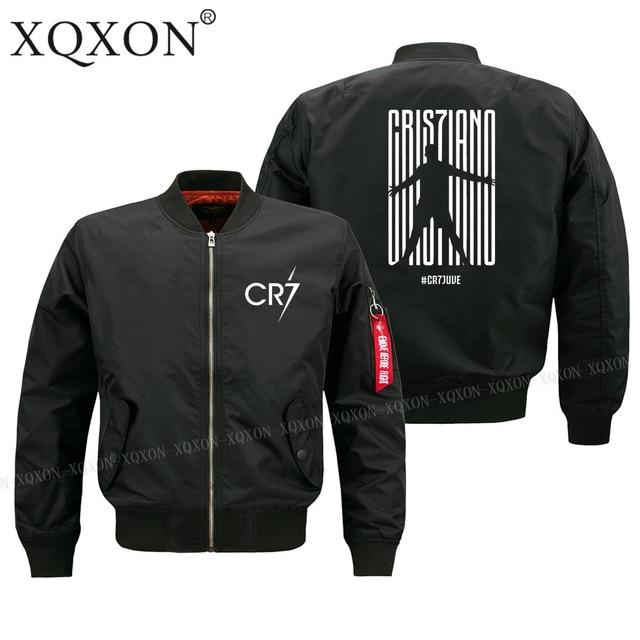 XQXON Autumn winter new design Ronaldo CR7 Juventus FC Serie A #CR7 Turin man jacket High Quality men Coats Jackets S-6XL-193