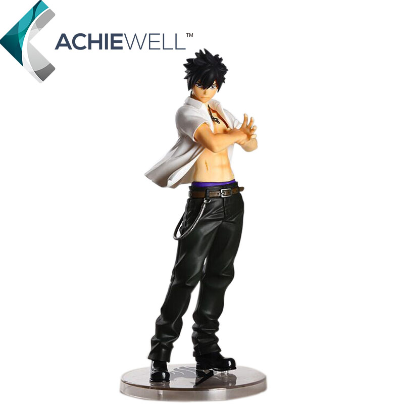 ФОТО Japanese Anime Fairy Tail Character Gray Fullbuster 22cm Action Fiugre 2nd Generation Ice Mage Model Collectible Toys Gifts