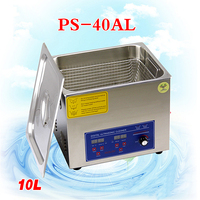 1PC 10L 110V/220V Ultrasonic PS 40AL electronic accessories, ornaments, jewelry ultrasonic cleaning machine 40,000Hz