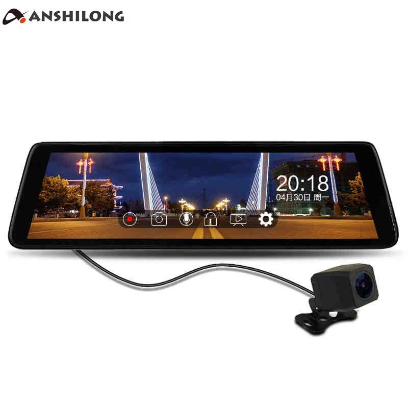 Anshilong 9,8 сенсорный экран Дисплей FHD 1080P Видеорегистраторы для автомобилей потокового зеркало заднего вида монитор с специальный кронштейн
