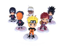8cm 6pcs/set Japan Anime Naruto Minifigures High Quality Pvc Action Figure Collectible Classic Toy Model Set