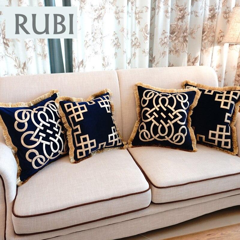 купить европейский вышитые роскошные чехлы для подушек декоративные