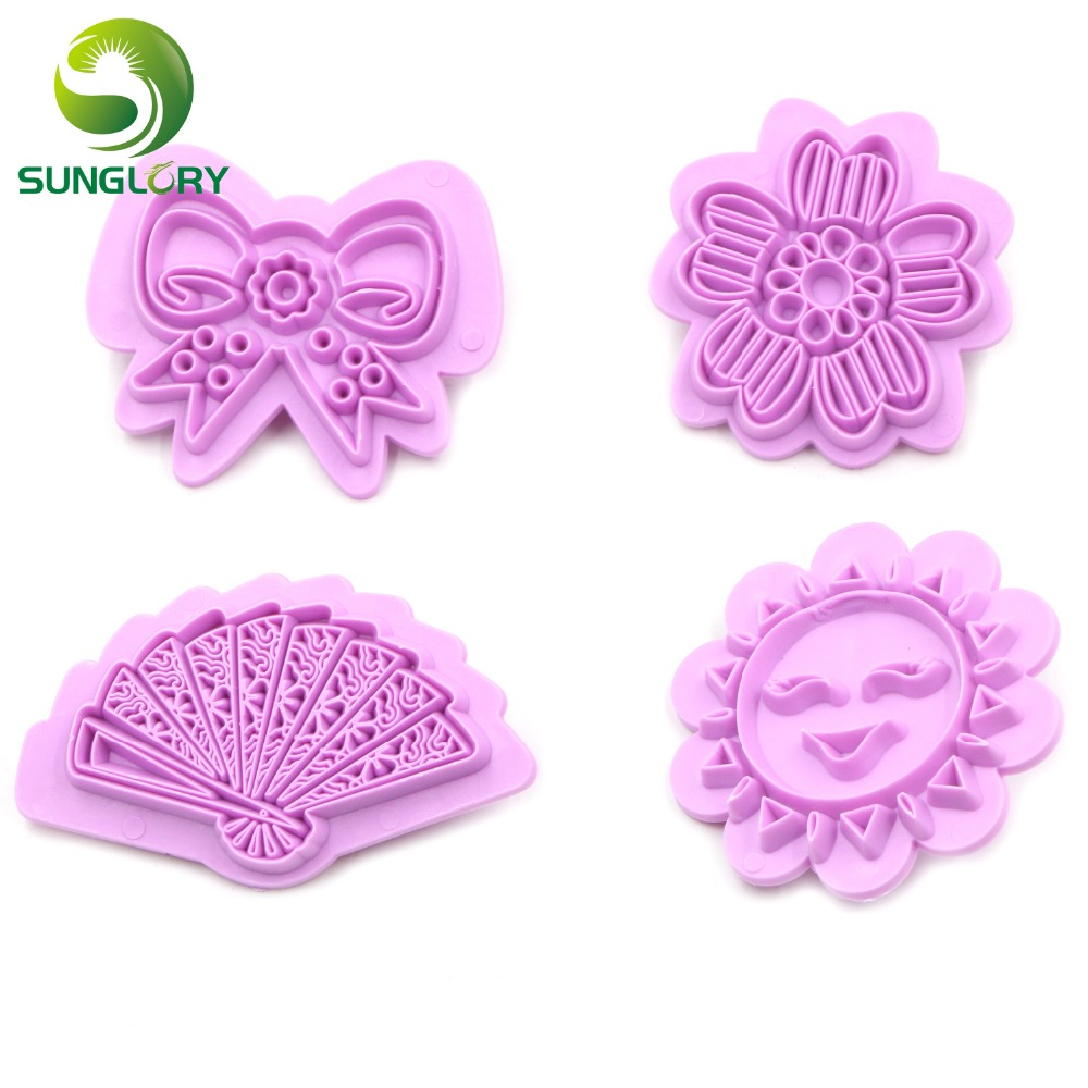 Sunflower Shape DIY Fondant Cake Toppers Molds Silicone Sugarcarft Cookie Cutter