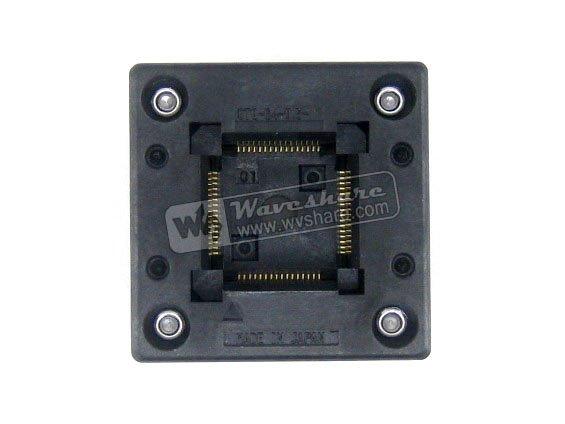 ФОТО QFP64 TQFP64 LQFP64 PQFP64 OTQ-64-0.5-01 Enplas QFP IC Test Burn-In Socket 0.5mm Pitch
