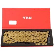 YBN Золотая цепь горный велосипед XC дорожный велосипед 10/11 скоростная Сверхлегкая цепь для MTB 10 11 скоростная цепь золотое снижение части campagnolo