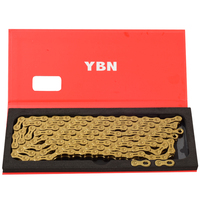 YBN gold chain mountain bike XC road bike 10/11 speed Ultralight chain for MTB 10 11 speed chain gold reduction parts campagnolo