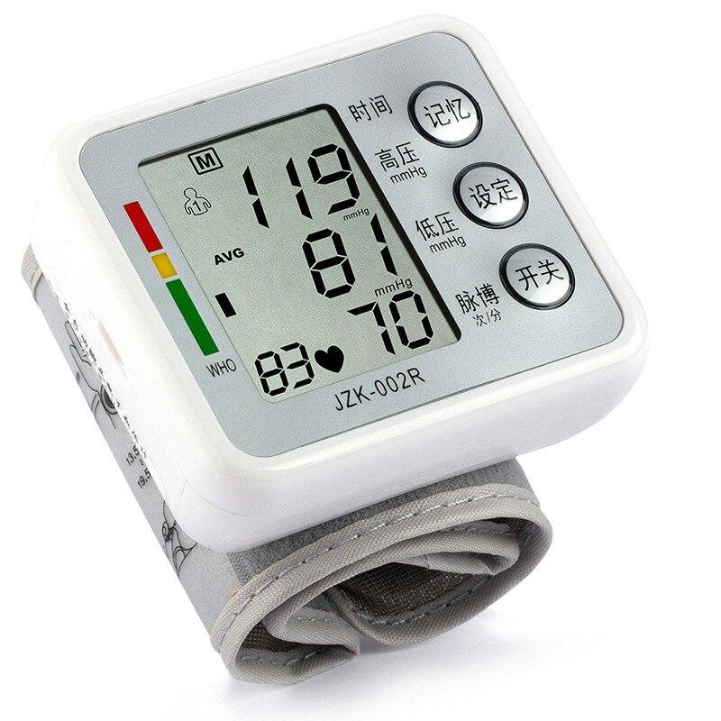 Digital Wrist Blood Pressure Pulse Monitors Portable health care Blood Pressure Monitor meters sphygmomanometer