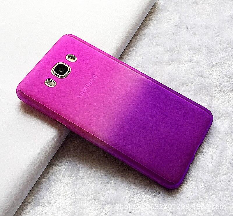 New 360 Full Body Gradient Color Front Back <font><b>Phone</b></font> <font><b>Case</b></font> +Tempered Glass For Samsung 2015 J5 <font><b>J7</b></font> /2016 A710 J510 J710 Note 5 Capa
