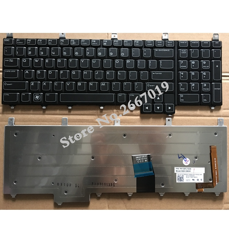 US New Replace laptop keyboard For Dell For Alienware M17X R4 M18 R1 R2 backlight new and original keyboard win8 for alw m17x r4 m18x r1 dpn 0gmcd3 us