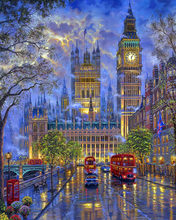 "DIY Painting By Number – House of Parliament (16""x20"" / 40x50cm)"
