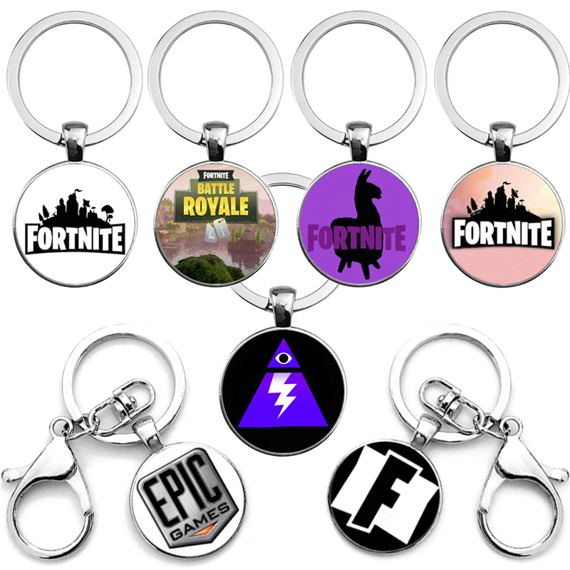 16 Styles Fortnite Keychain Props Toy Gift Hot&Classic FPS Game Alloy Metal Time Jewel Pendant Jewelry
