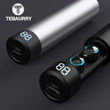 TWS Bluetooth écouteur sans fil casque 6D stéréo sans fil écouteurs Mini écouteurs avec micro 2600mAh chargeur Bin batterie externe