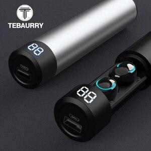 Image 1 - TWS Bluetooth słuchawki słuchawki bezprzewodowe 6D Stereo bezprzewodowe słuchawki Mini słuchawki douszne z mikrofonem 2600mAh pojemnik z funkcją ładowania Power Bank