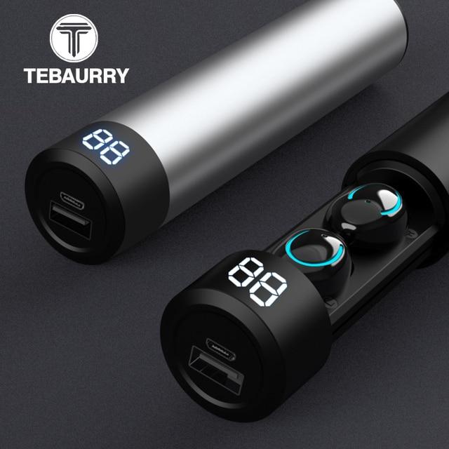 TWS Bluetooth słuchawki słuchawki bezprzewodowe 6D Stereo bezprzewodowe słuchawki Mini słuchawki douszne z mikrofonem 2600mAh pojemnik z funkcją ładowania Power Bank
