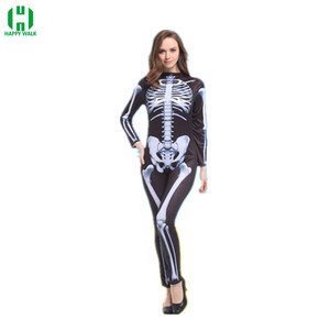 Image 3 - Halloween Horror Skeleton Cosplay Costume Masquerade Children Adult Men and Women Products Costumes fancy dress Play Party