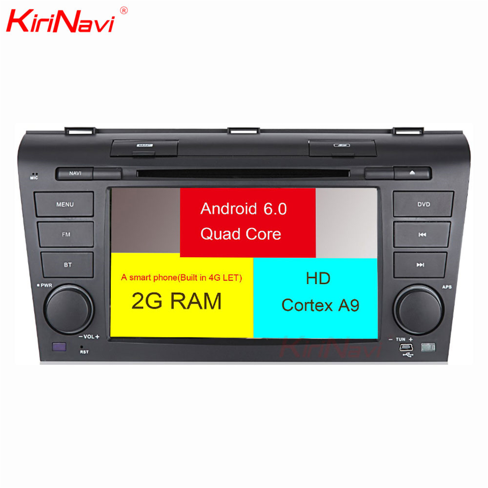 KiriNavi Octa core 4G LET android 7 car audio for Mazda 3 multimedia system 2004 2009 support 4K Video 4G in Car Multimedia Player from Automobiles Motorcycles