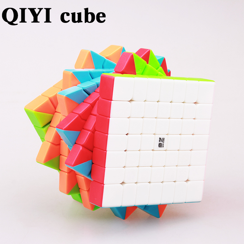 XMD QIYI QiXing S 7X7X7 Magic Speed Cube 7 Layers Puzzles Cubes Professional Educational Sticker less Cubo Magico Toys For Kids