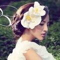 2016 novo estilo, Cabelo dança acessório de cabelo branco casamento hairpin, Cabelo, Casamento chapéus