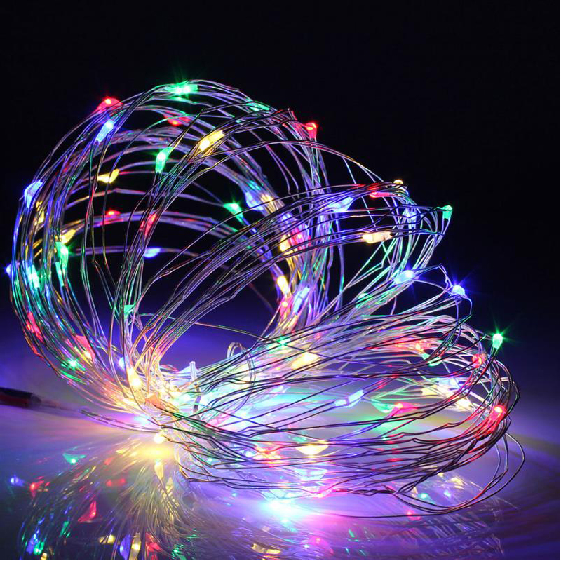 2M 5M 10M AA battery powered outdoor led copper wire fairy string light for christmas holiday wedding party decor lighting