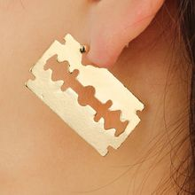 Party Punk Personality Alloy Safety Pin Puncture Earring, Fashion Jewelry Soft Curved Earrings Anti-allergic