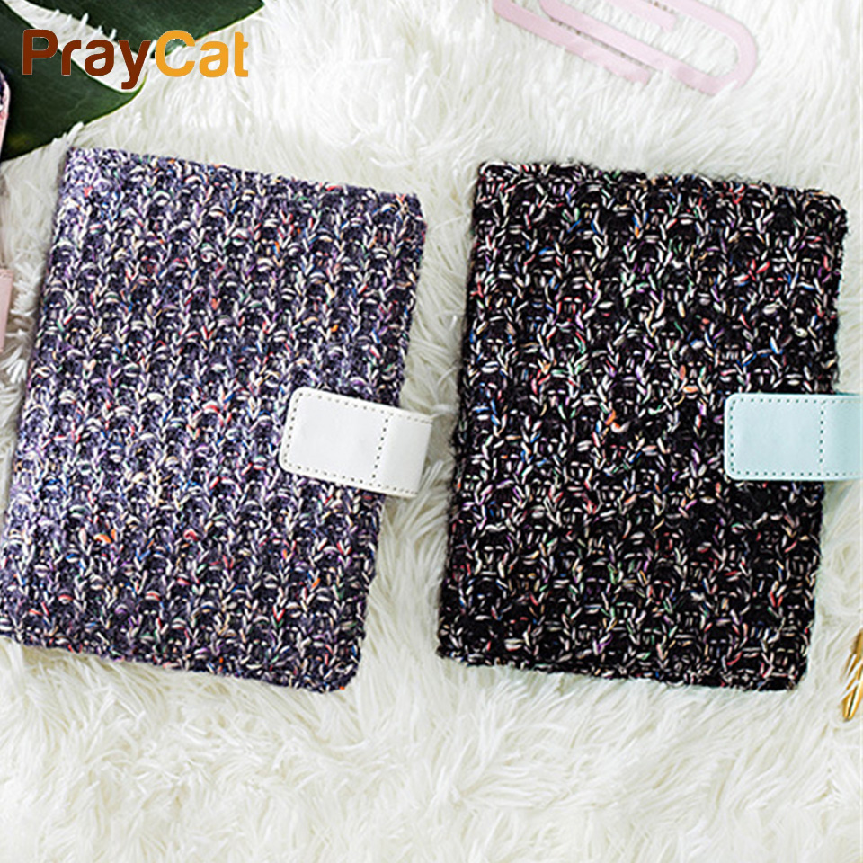 A6 Cloth Cover Travel Journal Diary Notebook Blank Planner Notepad Portable DIY Note book Gift School Office Supplies