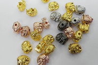 50pcs 10x12mm Elephant Charms Alloy spacer gold finding ,lead nickel ,love carved spacer beads gold black silver beads
