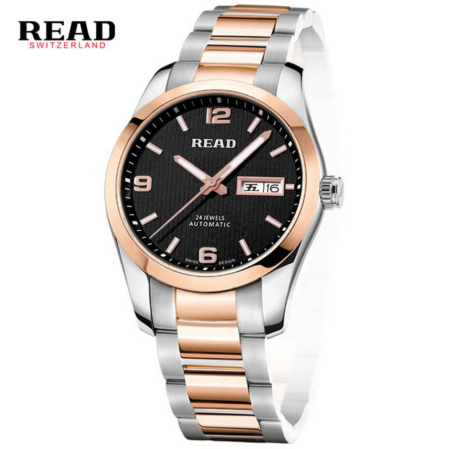 READ Genuine men automatic mechanical Watch self-wind sapphire watch male fashion business gentleman waterproof Watch 8083GA the new genuine automatic mechanical male watch belt men s watches male waterproof fashion business leisure watch