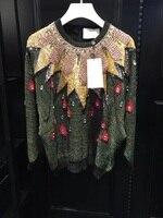 WA06275BA Модные женские свитера 2018 взлетно посадочной полосы Элитный бренд Европейский Дизайн вечерние Стиль Женская Костюмы